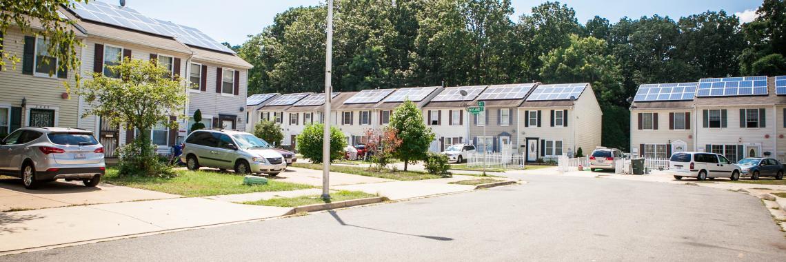 Vue des panneaux solaires